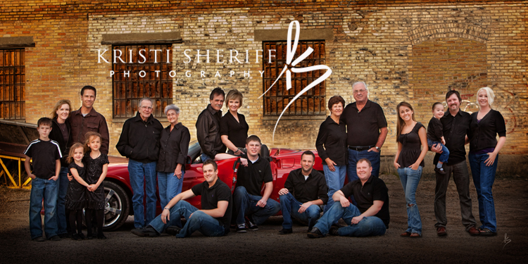 Extended Family with Corvette, Idaho Falls Portrait Photographer, Idaho Falls Photographer